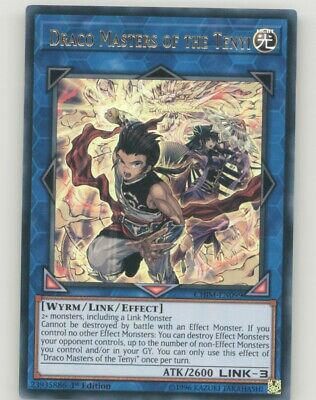 Yugioh CHIM-EN099 Draco Masters of the Tenyi (Ultra Rare 1st)