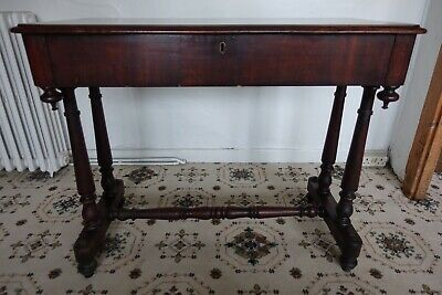 Antique Victorian Mahogany Console Table with Drawer