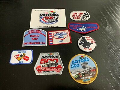 Vintage Lot of 9 Daytona Int'l Speedway NASCAR patches * great selection