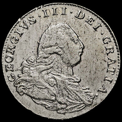 1800 George III Early Milled Silver Maundy Twopence, GVF