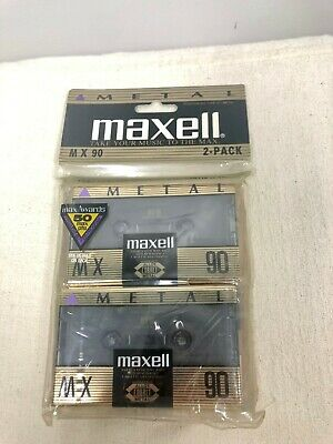 2 Pack: Maxell MX 90 Cassette Tapes- New Sealed