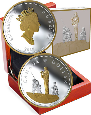 2019 Peacekeeping Renewed Dollar Masters Club 2OZ Silver Proof $1 Coin Canada