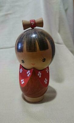 Used kokeshi doll 3 set 50 year old vintage antique japanese cute very rare wood