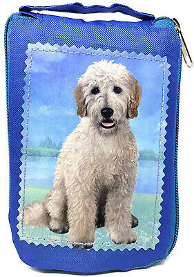 Goldendoodle Sitting Foldable Tote Bag - Waterproof - Zippered Market Tote