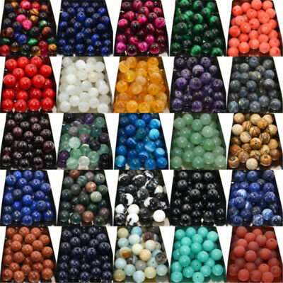 Wholesale Lot Natural Gemstone Round Spacer Loose Beads 4mm 6mm 8mm 10mm 12mm HT
