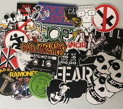 Punk Rock Sticker Pack - Misfits Minor Threat Social Distortion Descendants