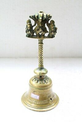 Antique Old Solid Brass Garuda Figurine Heavy Religious Holy Temple Bell NH6044