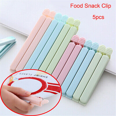5Pcs Bag Clips Household Snack Fresh Food Storage Clips Kitchen Accessories New