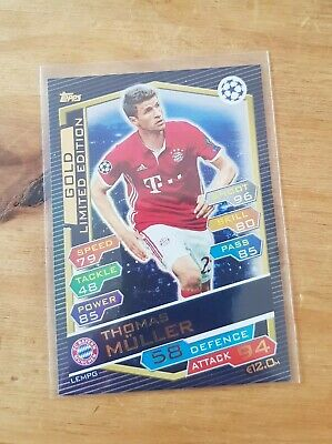 Match Attax Champions League 2016/17 MULLER GOLD LIMITED EDITION