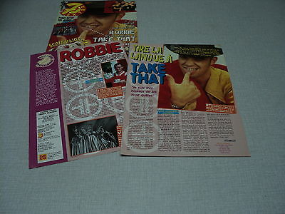 D050 Take That Robbie Williams '1995 Belgian Clipping