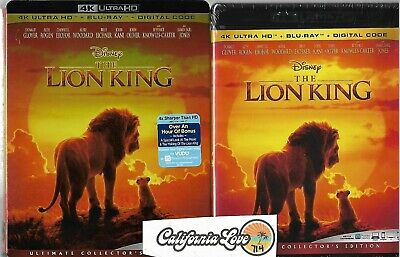 The Lion King 4K Ultra Hd + Blu-Ray 2-Disc 2019 Live Disney ✔☆Mint☆✔No Digital