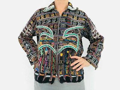 Vintage Solola Jacket. Guatemalan. Hand-Woven & Embroidered