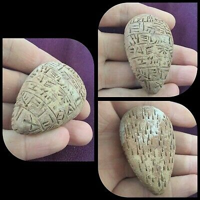Extremely Rare Ancient Near Eastern Clay Tablet Early Form Of Writing 2000Bc