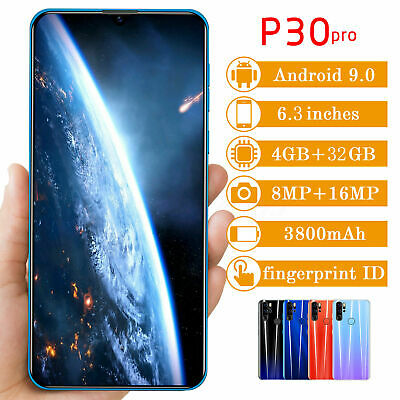P30 PRO 6.3'' Unlocked Smartphone Android 9.0 Dual SIM Mobile Phone Full Screen