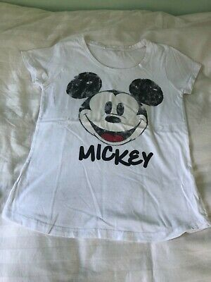 Girls Love to Lounge Mickey Mouse T-Shirt Top Size 6-8 Years