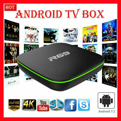 R69 ANDROID 7.1 1G/2GB 8G/16GB Smart TV BOX QUAD CORE ALLWINNER H3 WIFI 4K