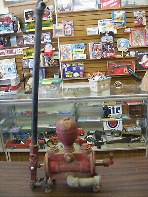 vintage red cast iron red jacket davenport iowa water pump unusual style