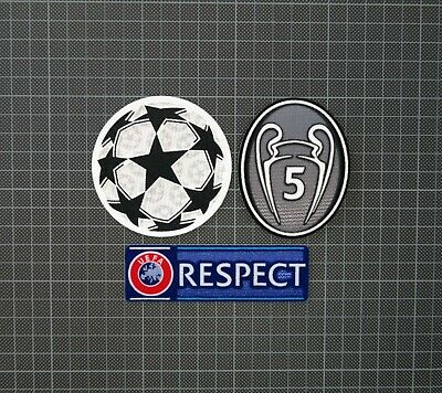 UEFA Champions League Starball, 5 Times Winners & RESPECT Sleeve Patches/Badges