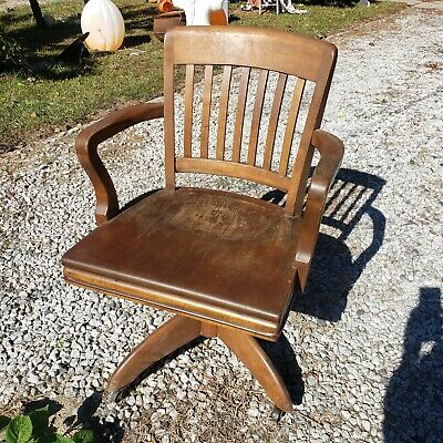 Marvelous Wh Gunlocke Antique Office Chair Wayland Ny 1920S Vintage Pabps2019 Chair Design Images Pabps2019Com
