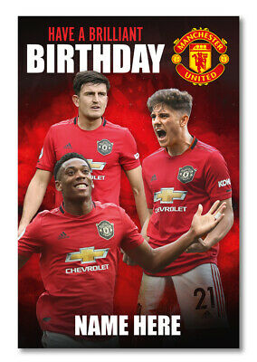 Personalised Manchester United Players Birthday Card - OFFICIAL MERCHANDISE