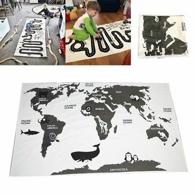 Checkers World Map Crawling Blankets Forest Track Play Game Mats Floor Carpet