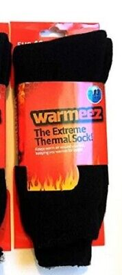 3Pack Extra Long Men Thermal Socks (4372) Brushed Winter Warm Thick Sock 2.13Tog