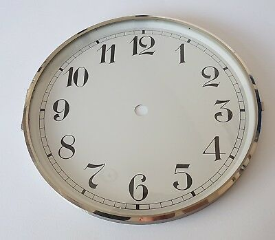 Chrome Clock Bezel and Glass 180mm Arabic Dial German Made
