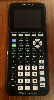 TI-84 Plus CE Graphing Calculator Slightly Used Texas Instruments