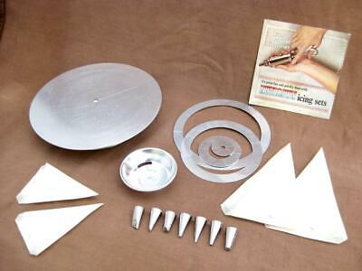 Icing turntable  Marking designing rings  Egg separator  Nozzles  Piping bags