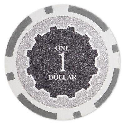 50 Eclipse 14g Gray $1 One Dollar Poker Chips Buy 2 Get 2 Free NEW