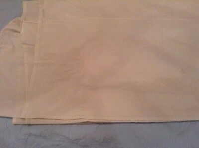 "Valance for Single Bed, Cream 15.5"" Depth, Poly/Cotton EX COND"