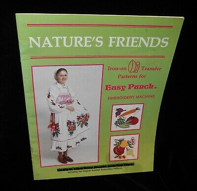 Nature's Friends Iron on transfer patterns Easy Punch Embroidery Orig Russian