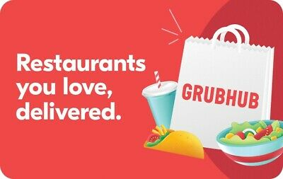 Grubhub Gift Card - $25 $50 $100 - Email delivery