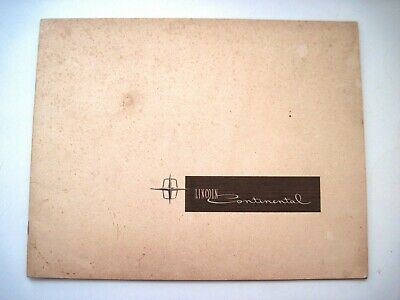 """Lovely 1962 Colorful Brochure for """"Lincoln Continental"""" w/ Elegant Pictures *"""