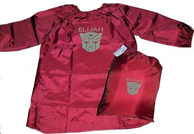 Personalised Art Smock & Library Bag Set - Transformers - First name FREE