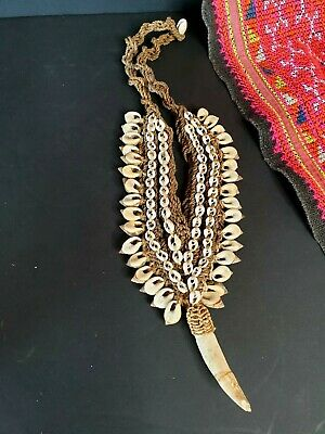 Old Papua New Guinea Ceremonial Necklace with Sea Shells …beautiful collection &