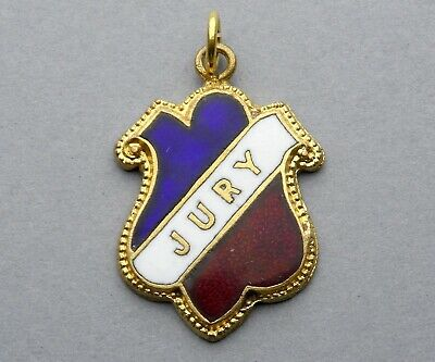 French Antique Enamel Medal. Jury, Tricolor. Blue, White, Red. Pendant.