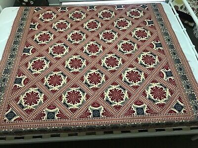 Red And Black Reproduction Lap Quilt Top