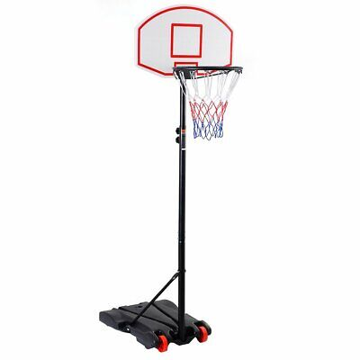 Kids Basketball Stand Child Basket Ball Hoop Net Goal Adjustable Height w/Wheel