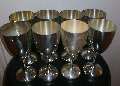 """8 International Silver Co. Silverplate Water or wine 6"""" Goblet free shipping"""
