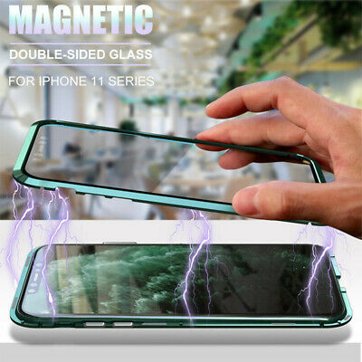 For iPhone 11 Pro Max XS XR X 8 7 Plus 360° Magnetic Candy Color Case Cover