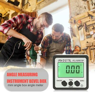 Digital Bevel Box Protractor Gauge Angle Finder Inclinometer Magnetic Level Tool