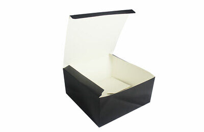 Black Burger Boxes Fast Food Packaging Takeaway Cardboard Restaurant Meal Box