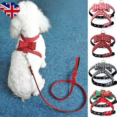Non-Pull Dogs Harness Bow Pet Puppy Cats Walking Strap Vest Soft Chest Back Belt