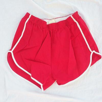 Vintage Empire Mens Red Gym Shorts 1970's 1980's Size L Large