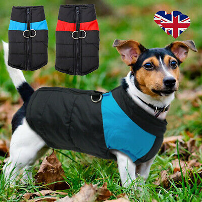 Winter Small/ Large Pet Dog Clothes Winter Warm Padded Coat Pet Cat Vest Jacket