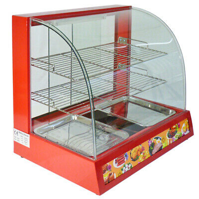 Hot Food Warmer Display Commercial Cabinet Showcase Chicken Warming Counter Top