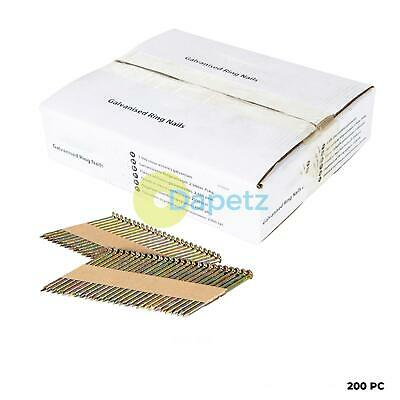 Collated Galvanised Ring Shank Framing Nails 34° 2.9mm x 65mm 200 Pack
