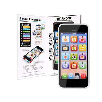 Kids Music Toy Cell Phone | Educational Learning Screen Child Gift Black