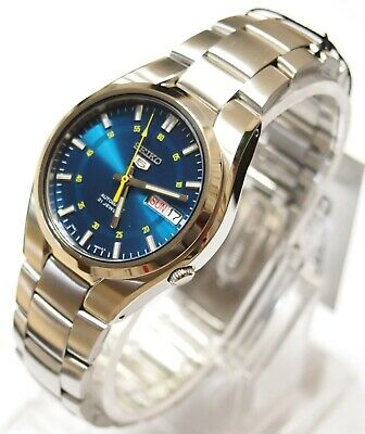 SNK615 SEIKO 5 Stainless Steel Band Automatic Men's Blue Watch SNK615K1 & Gift